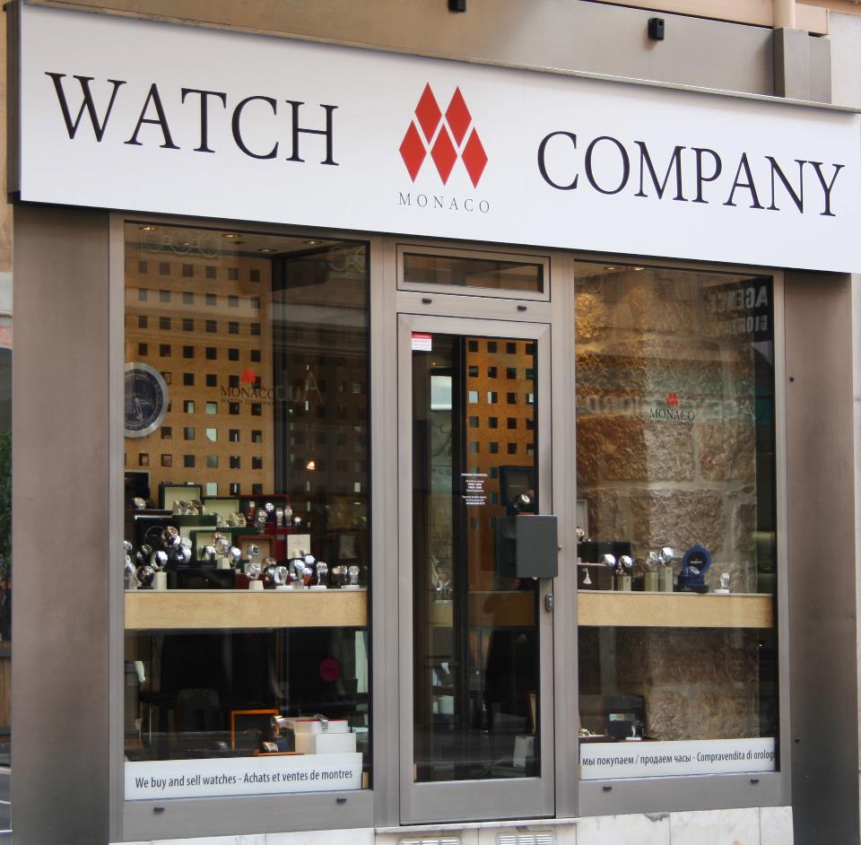 Monaco watch company vitrine